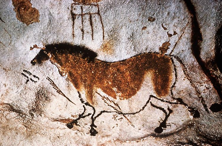 Первые пещерные рисунки?