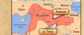 Ассирийская держава карта
